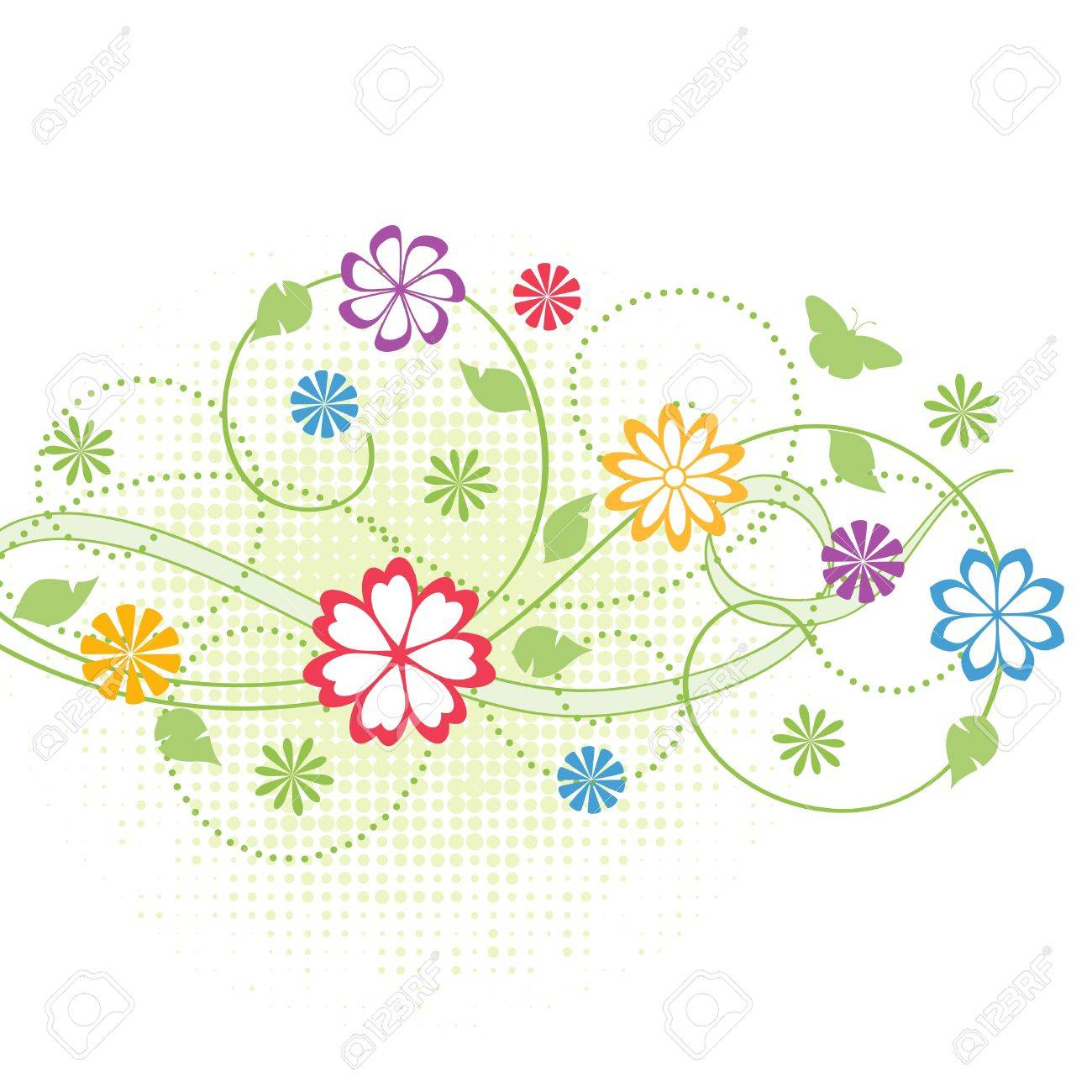 Floral background. Stock Vector - 9919115