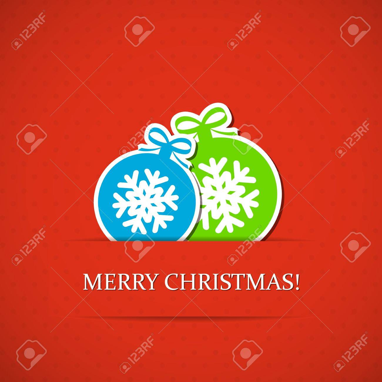 Red Christmas background with balls. Stock Vector - 15505704