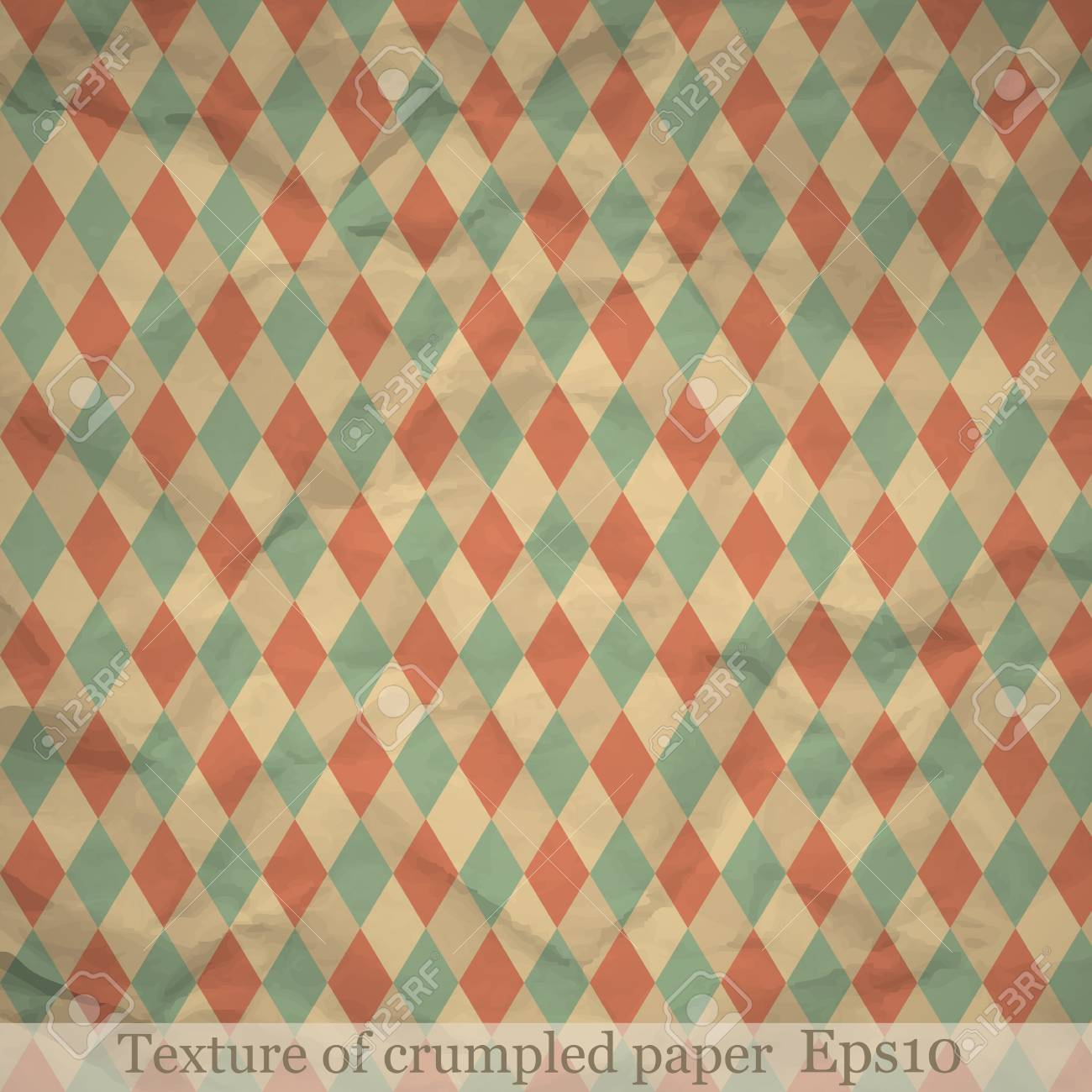 Texture of crumpled paper Stock Vector - 15788428