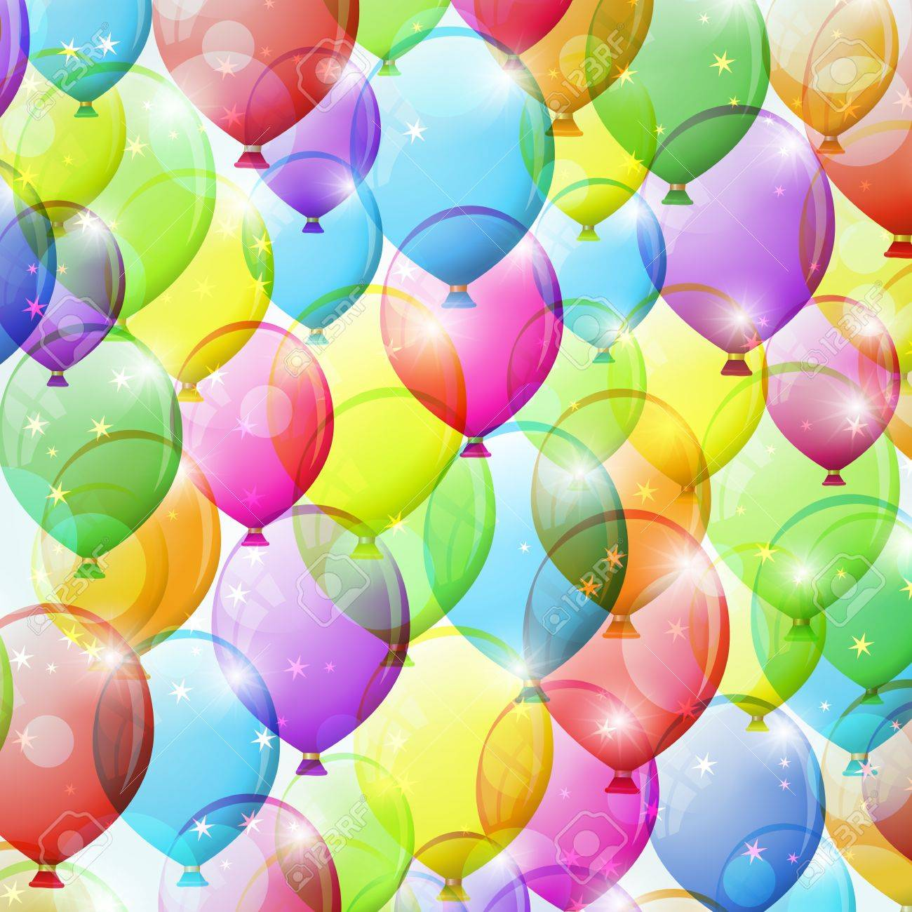 Festive background with colorful balloons. Vector illustration. Stock Vector - 17314604