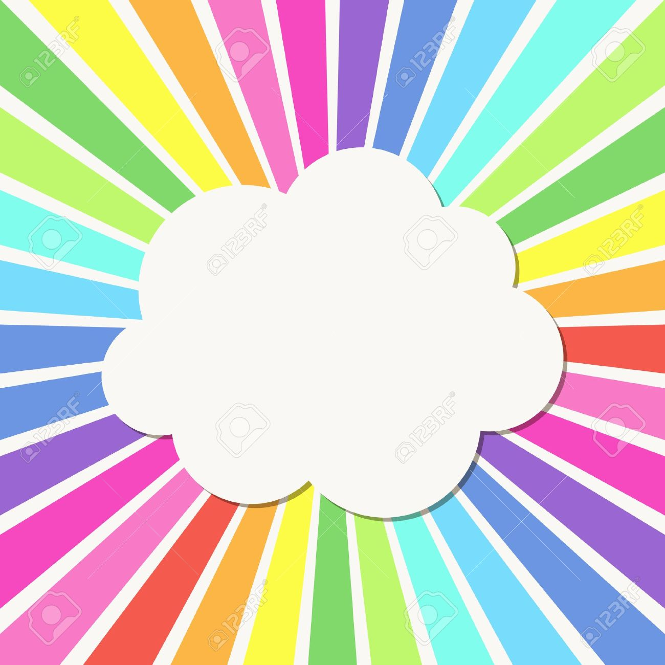 abstract background with rays and cloud frame stock vector 17529115