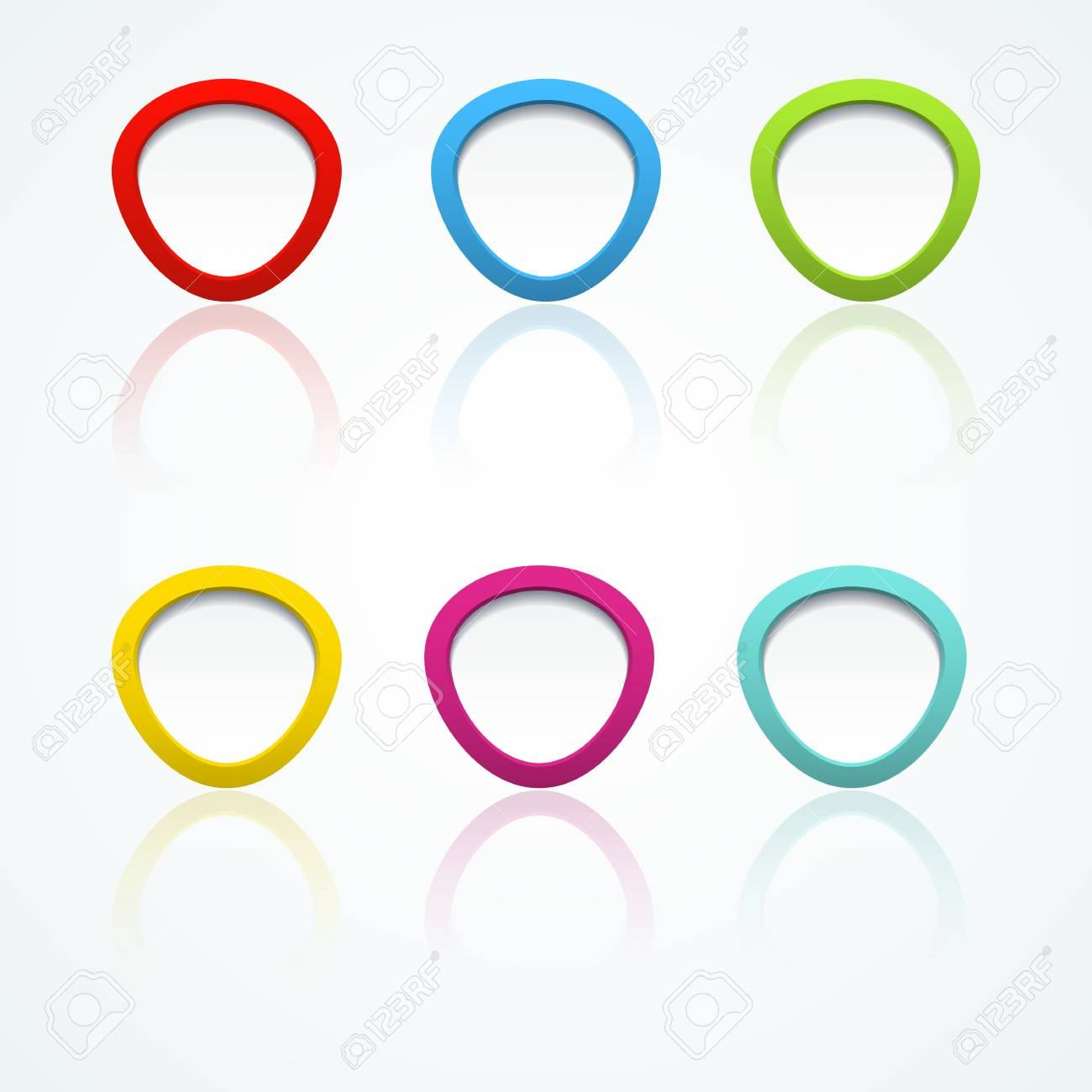 Set of colorful 3d buttons  Vector illustration Stock Vector - 18354046