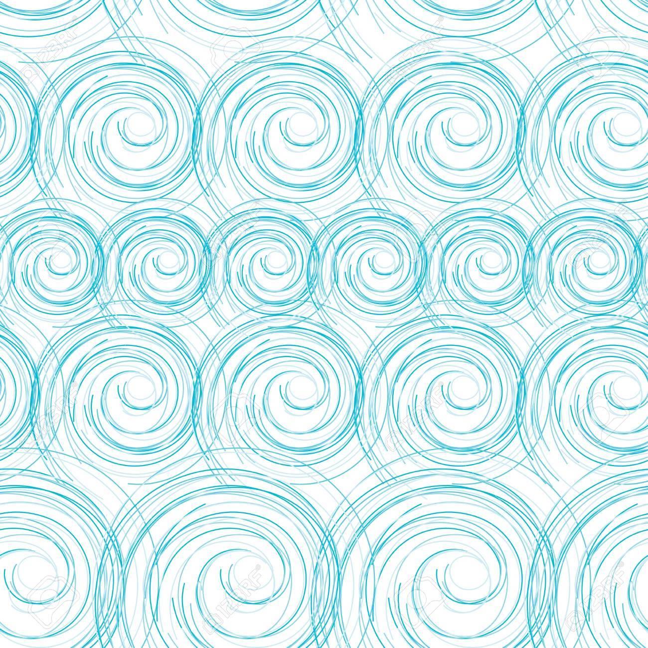 Vettoriale Astratto Onde Del Mare Azzurro Sfondo Senza Soluzione