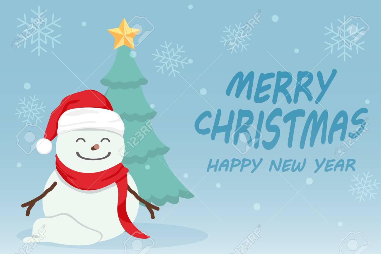 Personaje De Dibujos Animados Lindo Día De Navidad Feliz Navidad Feliz Año Nuevo Festival Hombre De Nieve Copo De Nieve De árbol De Navidad Y
