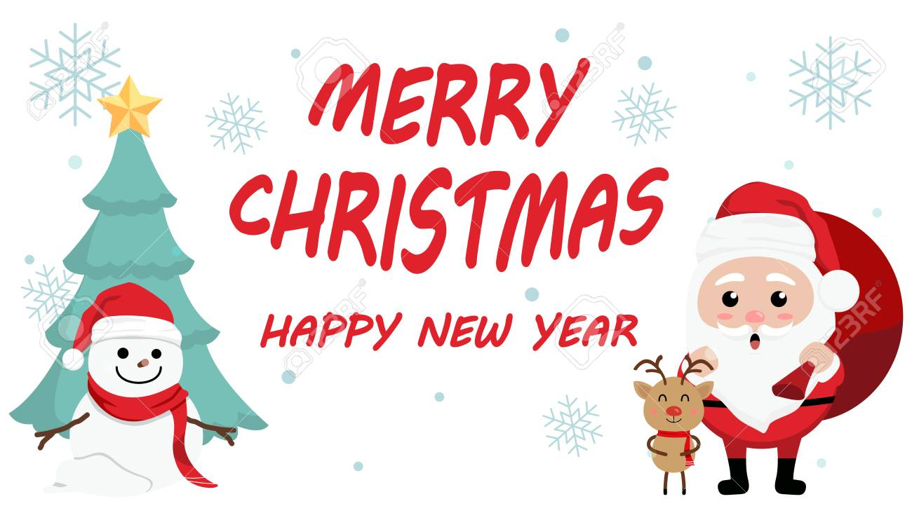 13+ Merry Christmas Happy New Year Clipart