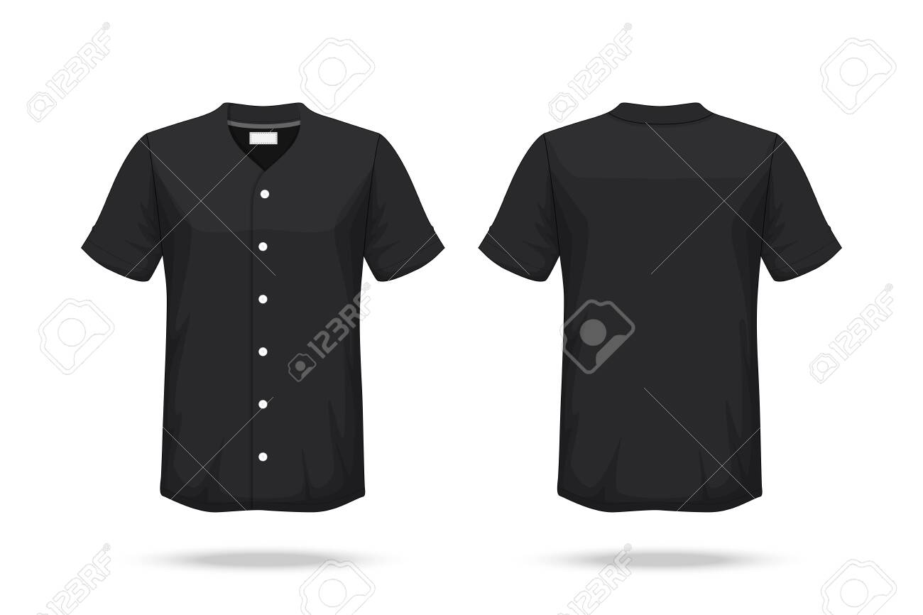 Specification Baseball T Shirt Mockup isolated on white background , Blank space on the shirt for the design and placing elements or text on the shirt , blank for printing , vector illustration - 148255087