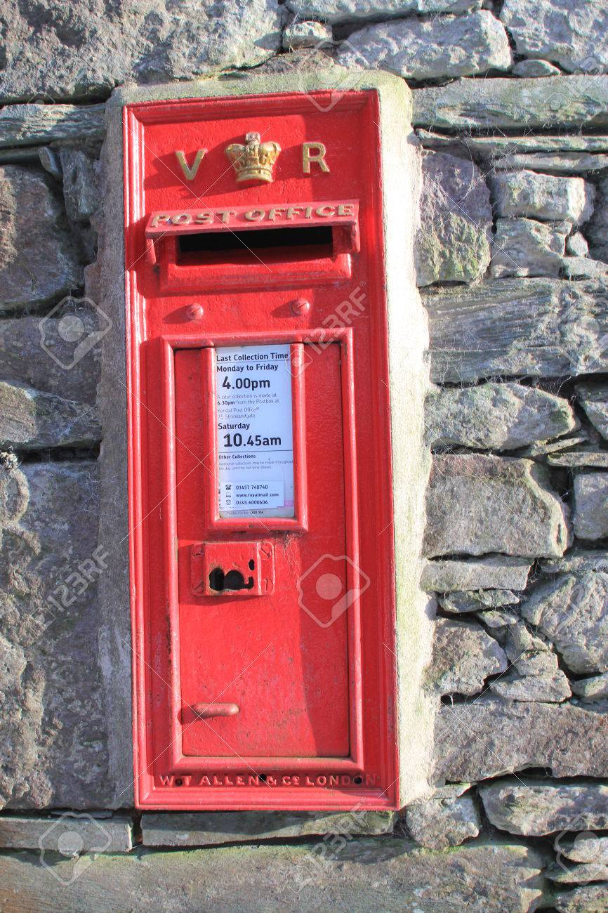 Royal Mail Letter Box.Vintage British Royal Mail Red Victorian Post Box For Mailing