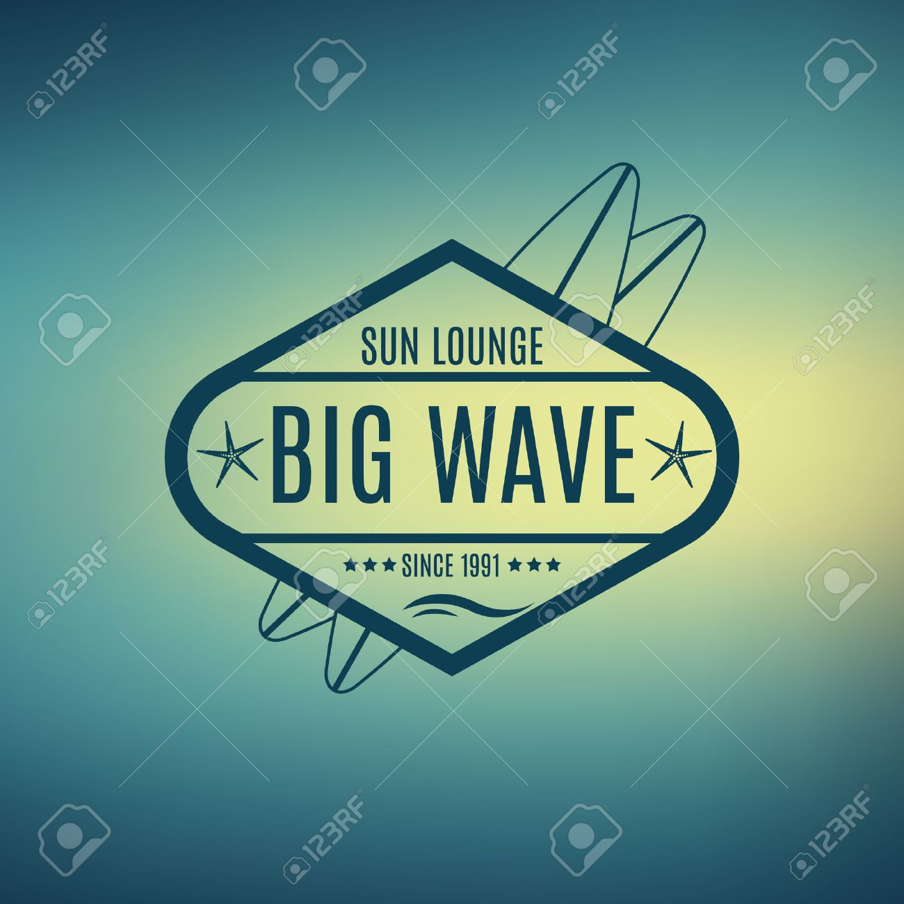Vector Retro Style Surfing Labels, Logos or T-shirt Graphic Design Featuring Surfboards, for presentation, infographics, flyer, printing etc. Good for Posters etc. - 40119469
