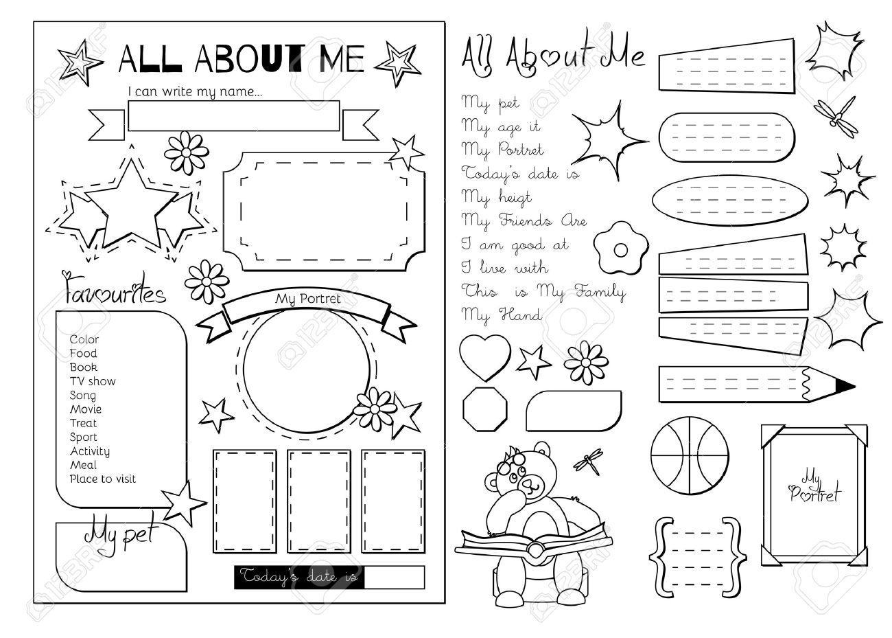 graphic about All About Me Printable titled Again in the direction of University. All In excess of Me questionnaire. Printable
