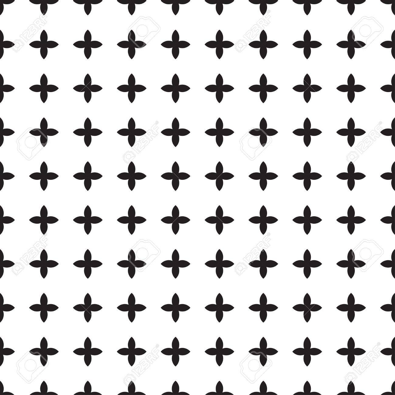 Universal Vector Black And White Seamless Pattern (tiling ...