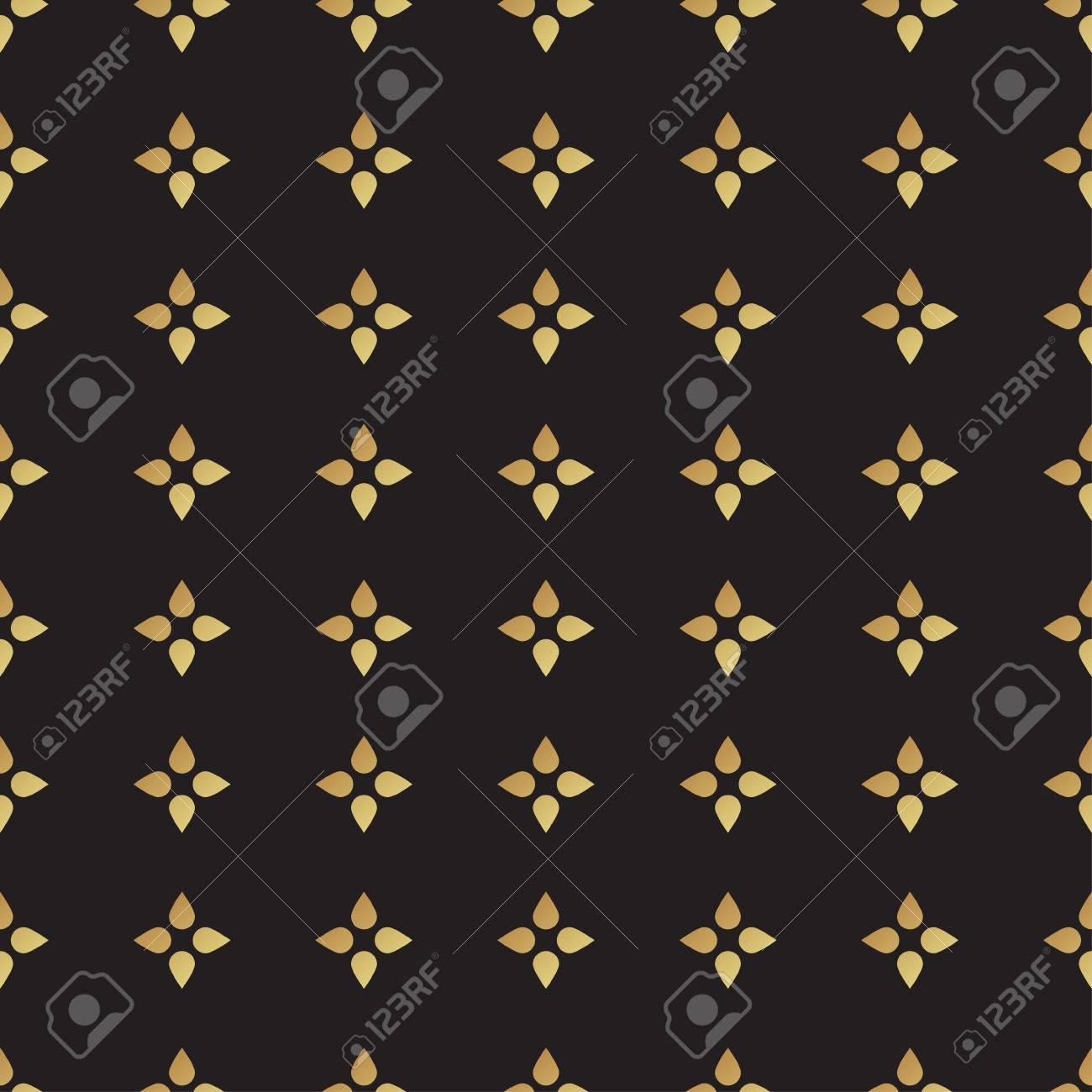 Noir Universel Vecteur Et Or Seamless Carrelage Polka Dot Ornements Geometriques Texture Pour Le Scrapbooking Papier D Emballage Textiles