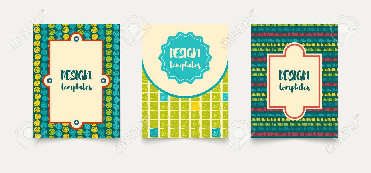 Plantilla Tarjetas Creativas étnicos. Marcos Y Fondos De La Vendimia ...