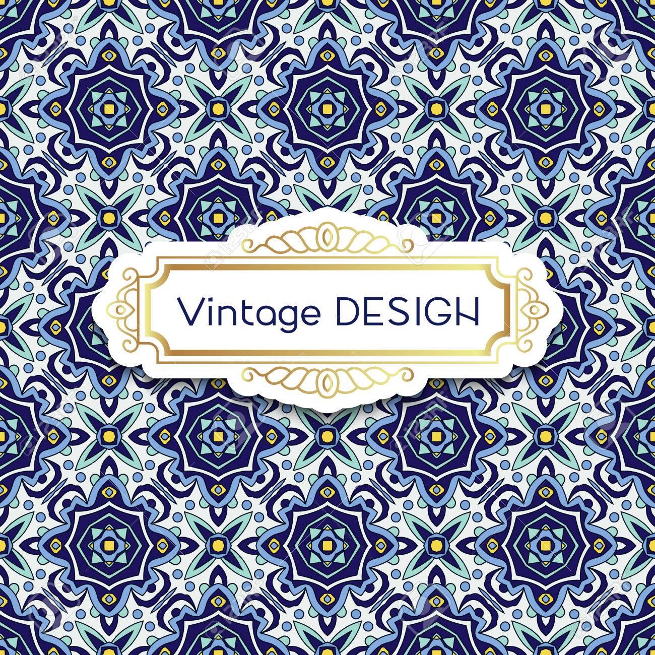Antik Jahrgang Hintergrund Azulejos In Portugiesischen Kacheln Stil