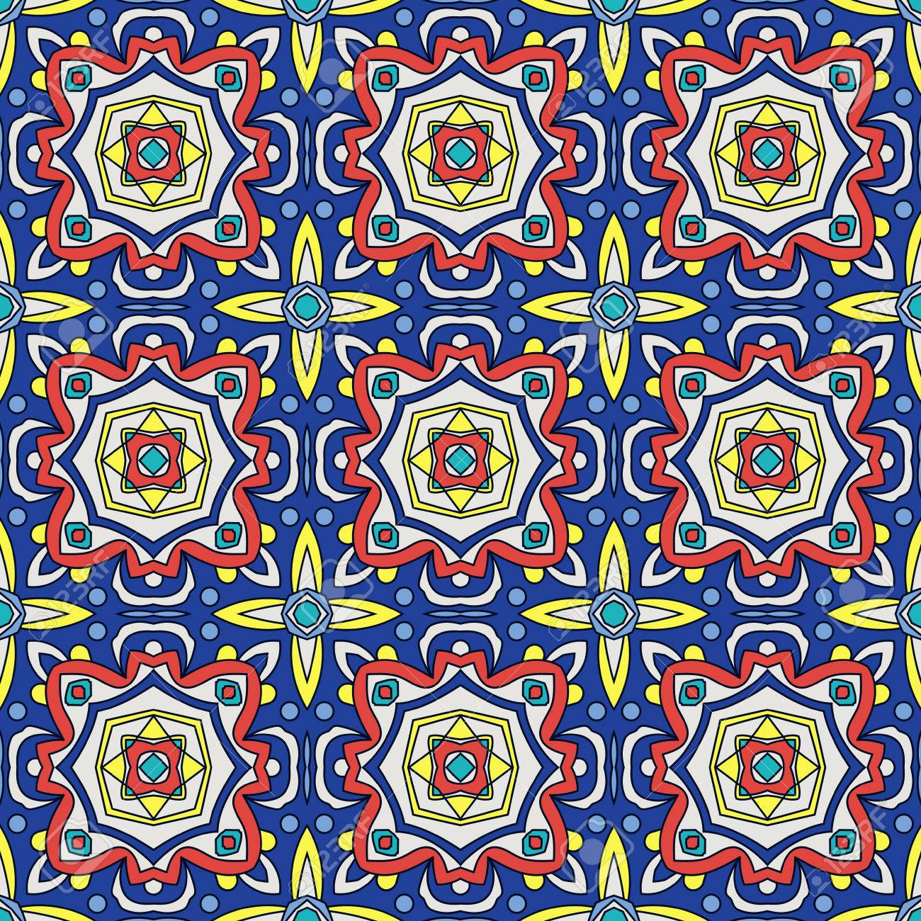 Bright Traditional Talavera Ornament. Mexican Seamless Pattern ...