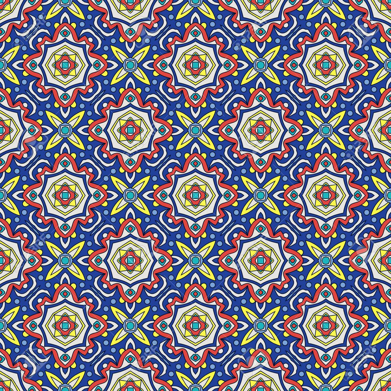 Bright Traditional Talavera Ornament. Mexican Seamless Pattern ...