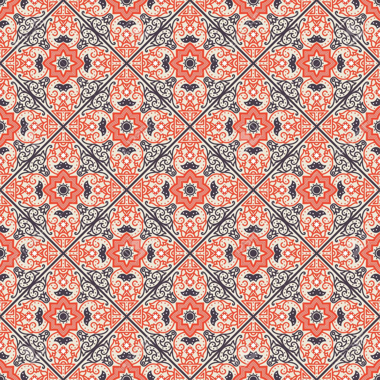 talavera tile vibrant mexican seamless pattern originally from