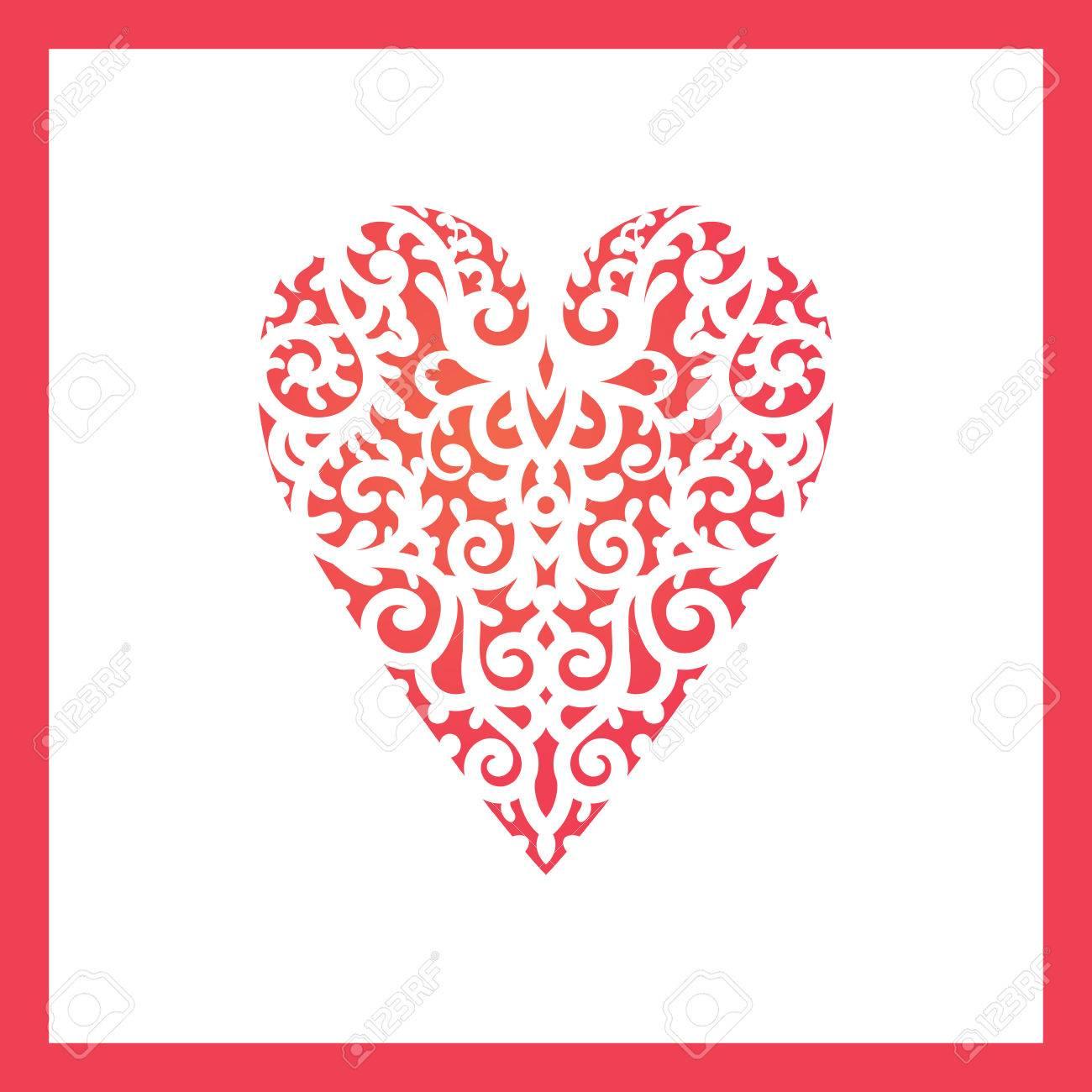 Vorlage Herz Mit Blumen Für Das Laserschneiden Spanplatten
