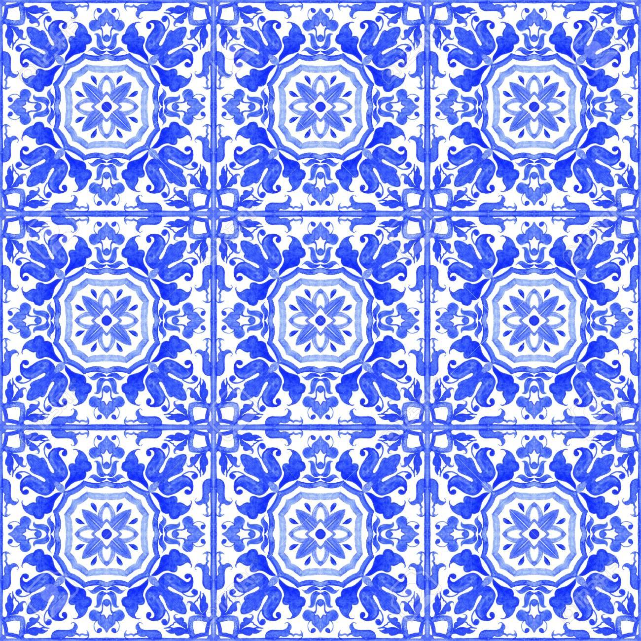 Portugiesische Azulejo Fliesen Blaue Und Weiße Wunderschöne - Tapete portugiesische fliesen
