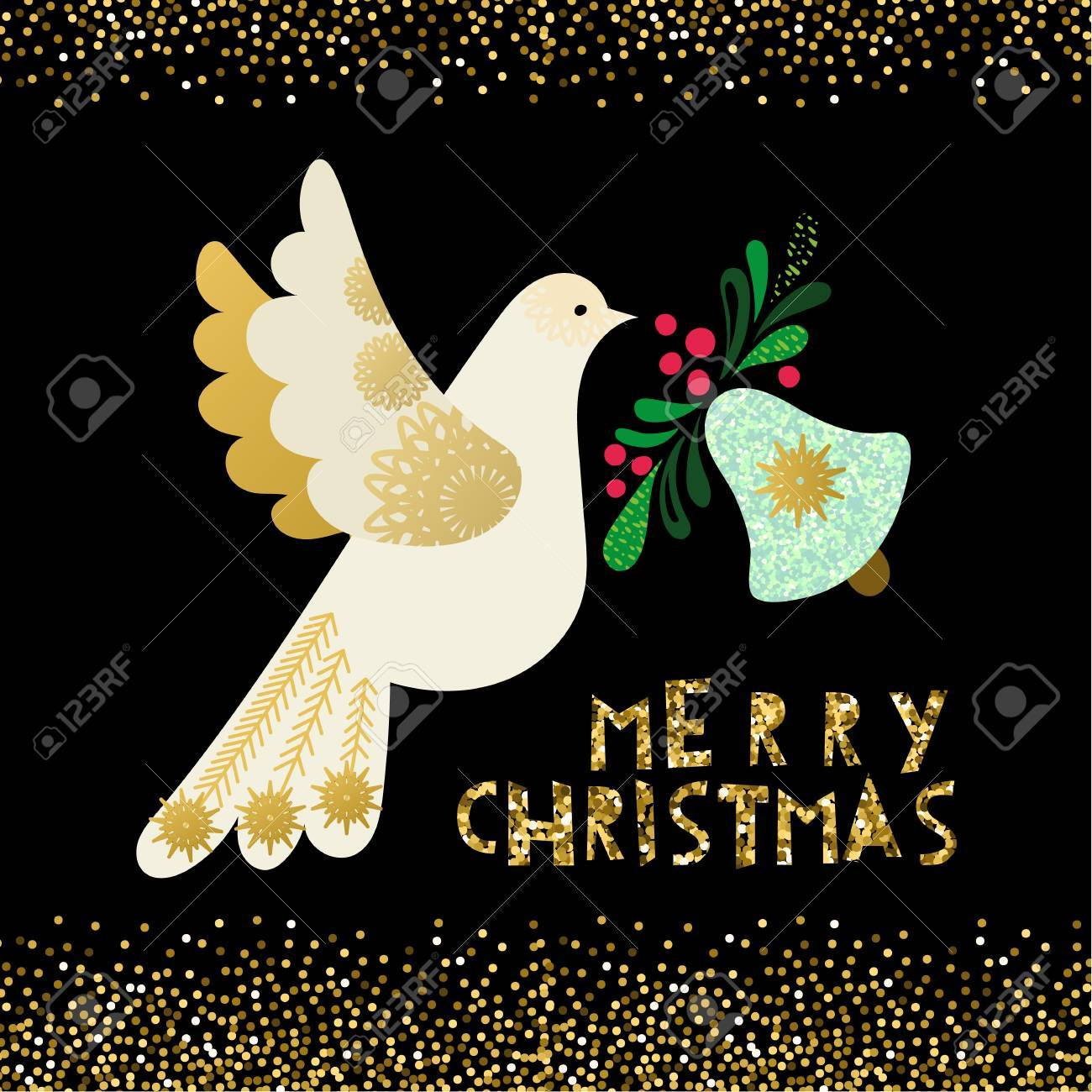 Dove Of Peace Christmas Invitation Card