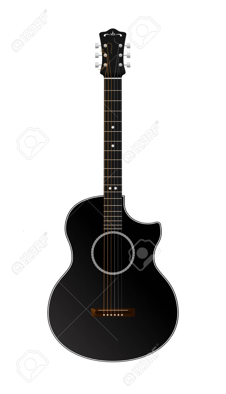 Vector Guitar Isolated On White Stock Vector - 23007939