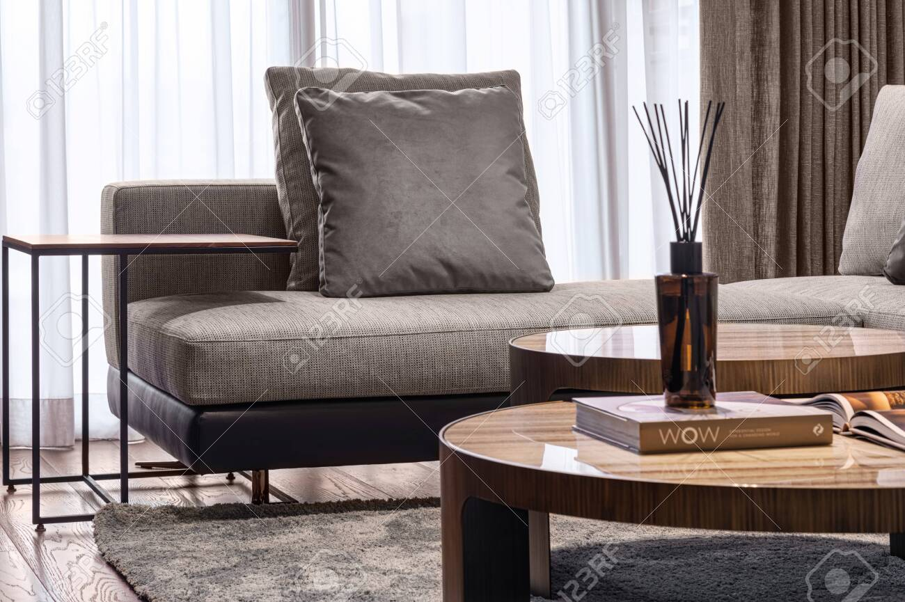 Home. Space. Living room hall. Lifestyle Elegant luxury. - 124470674