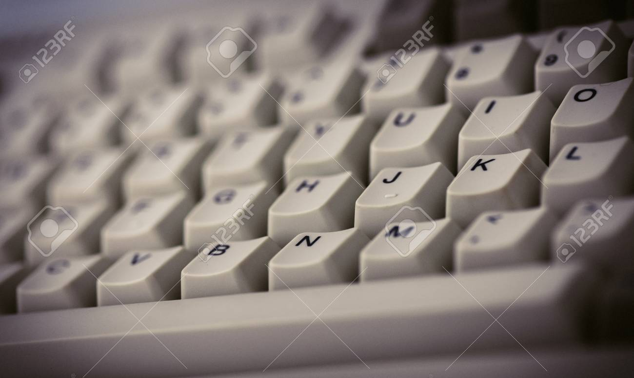 An Old Computer Keyboard - Vintage style backround