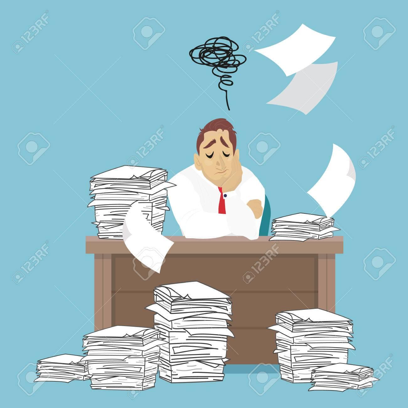 Besetzt Zeit Der Geschaftsmann In Hart Arbeiten Viel Arbeit Stress