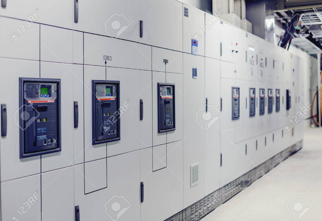 Low Voltage Switchgear At Power Plant. Electrical Switchgear ...