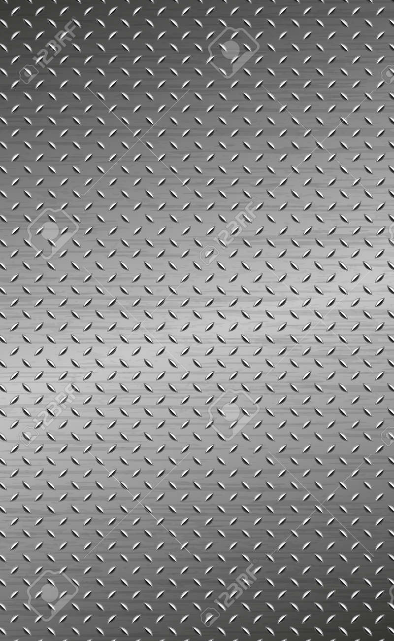 Texture panorama of silver metal with reflection - background - 155604534