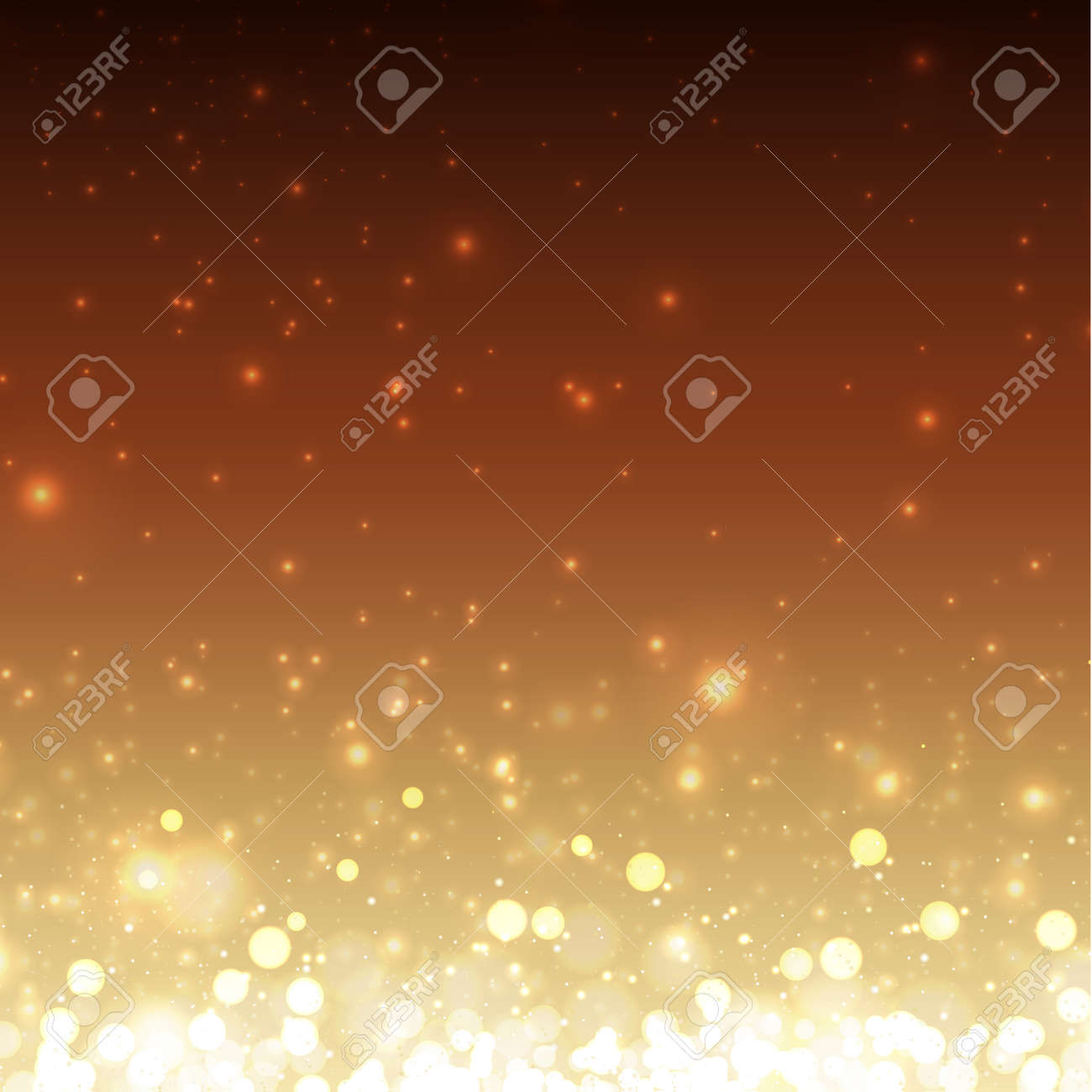 Bright bokeh with highlights on a dark background - Illustration - 158676428