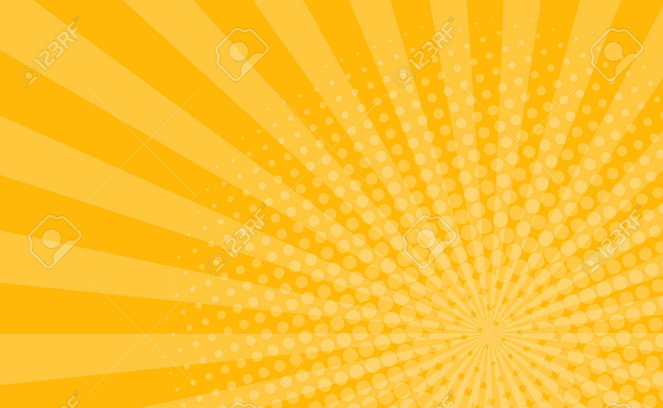 Orange comic zoom with lines and glow - Vector illustration - 159504680