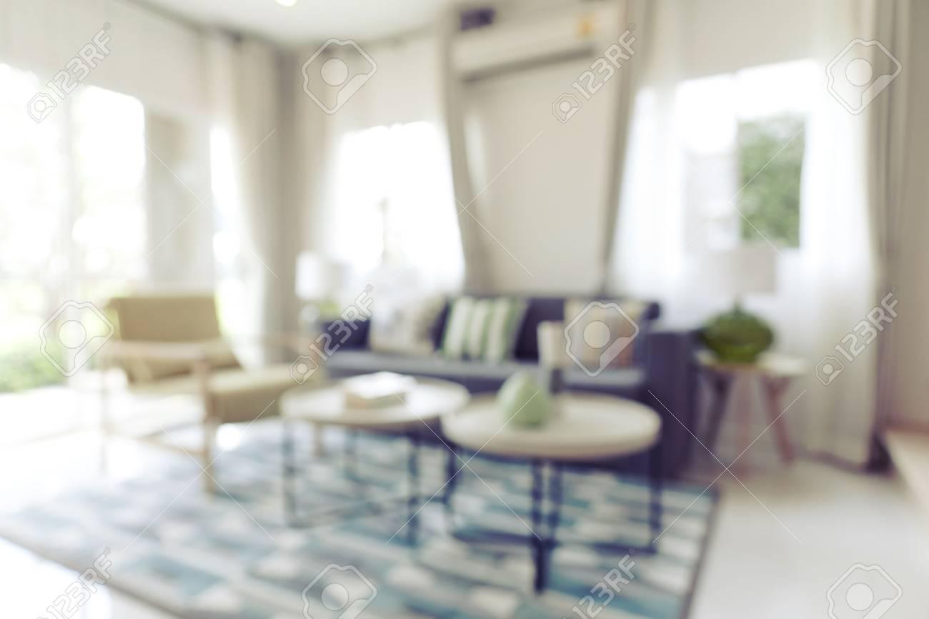 Brouiller L\'image Du Salon Moderne à La Maison Banque D\'Images Et ...