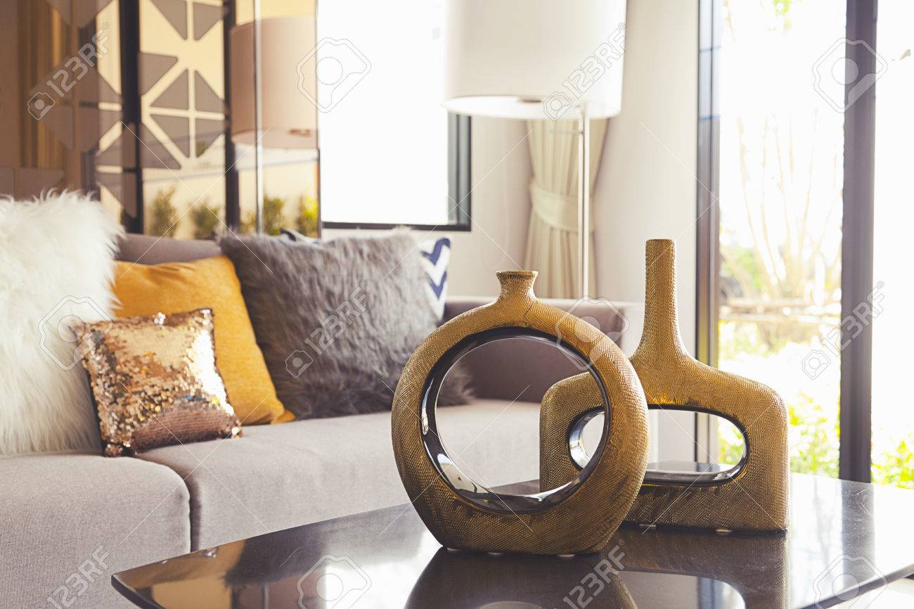 decoration vase on the table in living room - 50905851