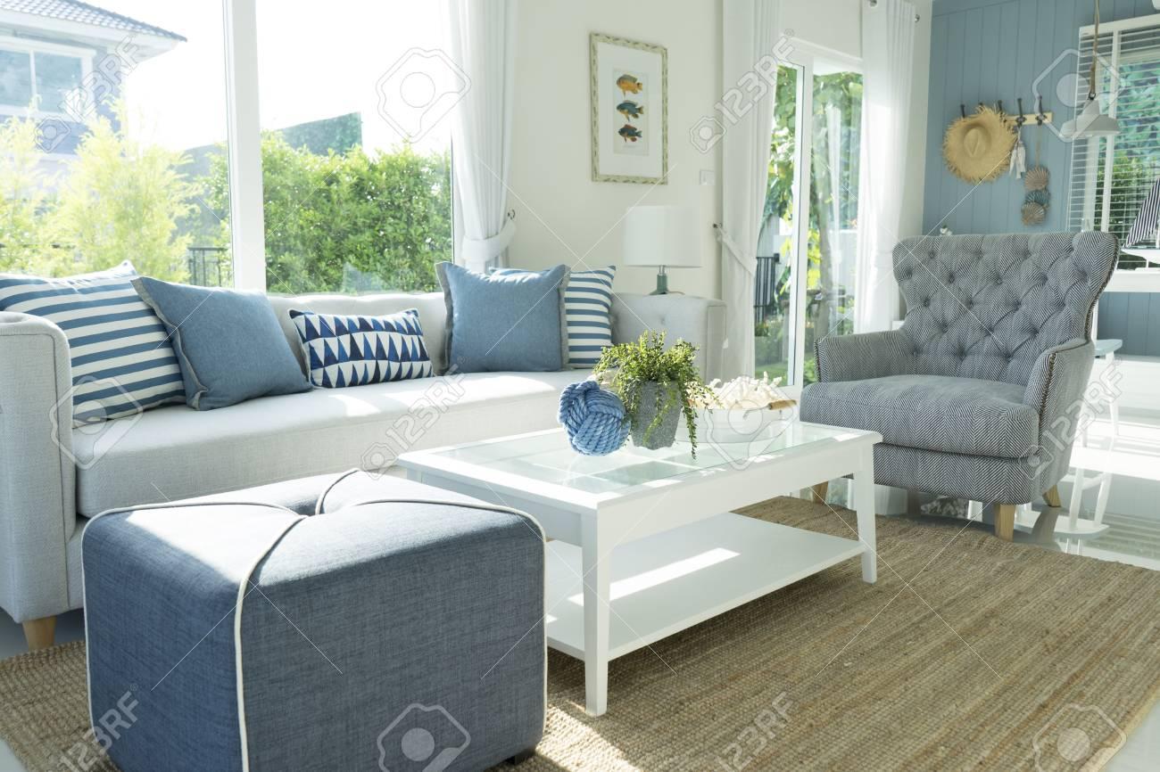 Tropical Beach Themed Living Room