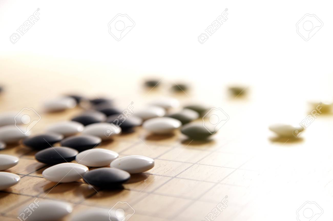 Go. Traditional asian strategy board game. - 89997401