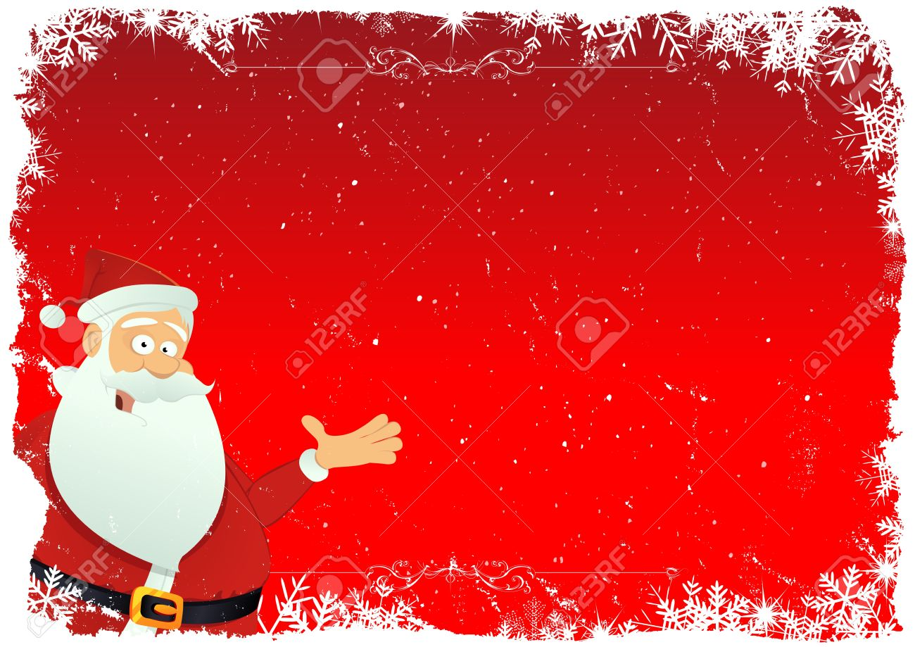 Illustration of a cartoon christmas card background Stock Vector - 11248620
