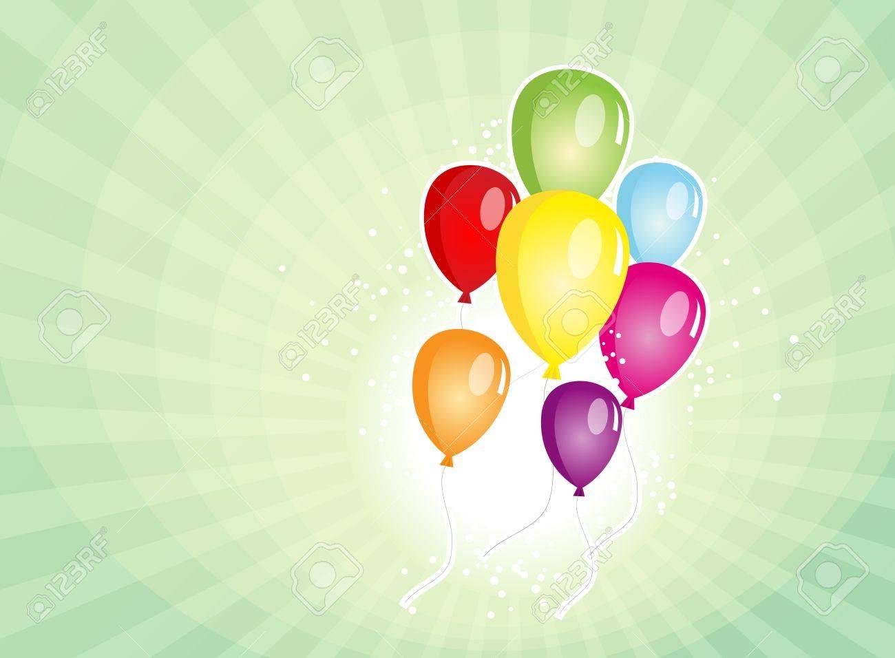 ilustracin de un fondo del cartel globos para las fiestas nacionales fiestas de carnaval o