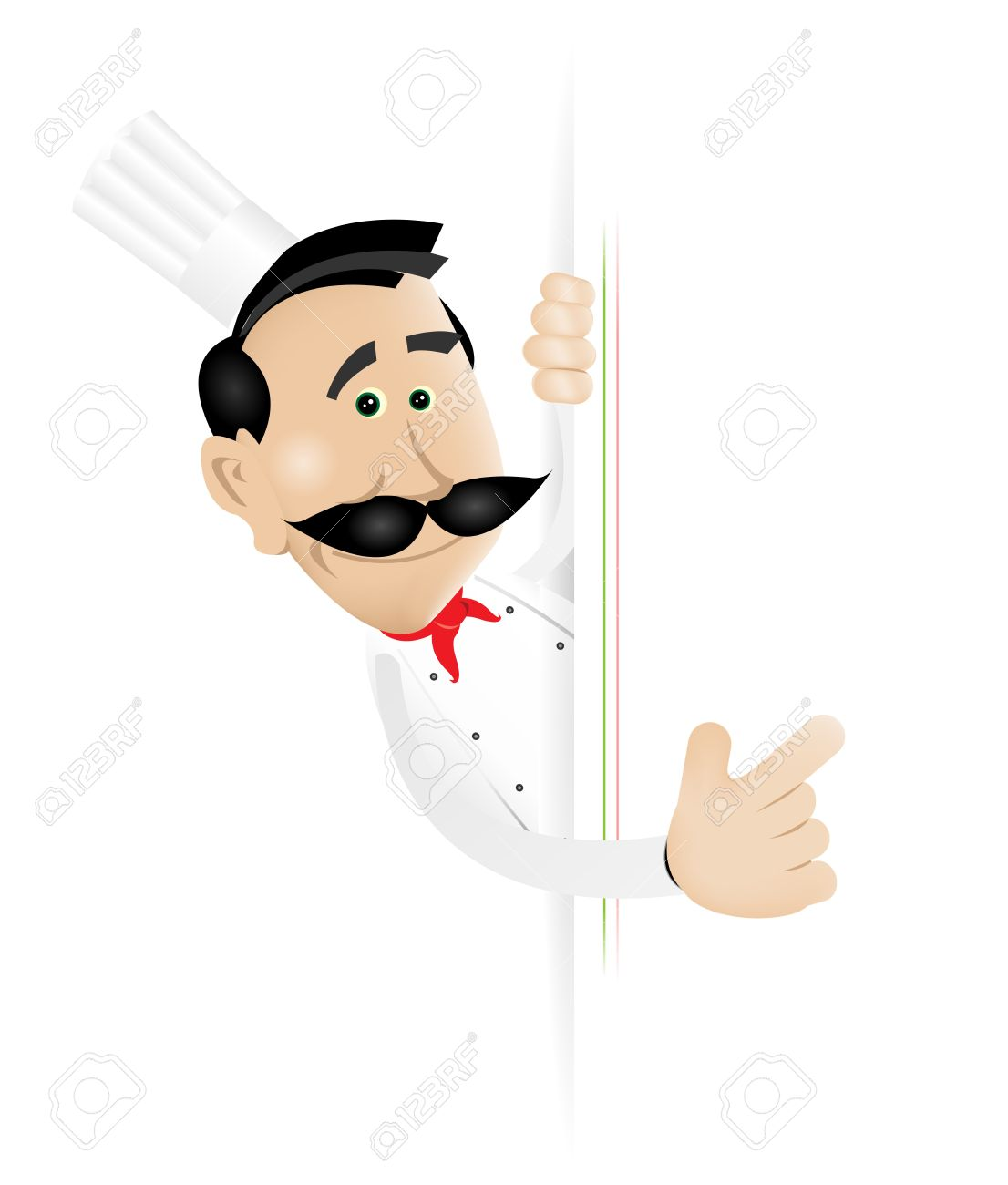 Illustration of a cartoon white cook man holding A Blank sign to put your  message or your menu in Stock Vector - 11248762