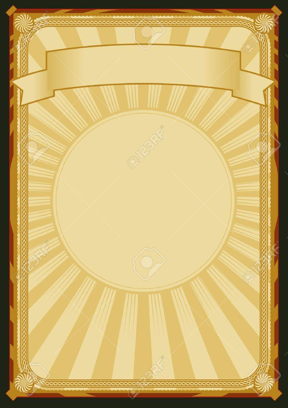 Illustration of a vintage retro-styled background poster with banner Stock Vector - 11248893