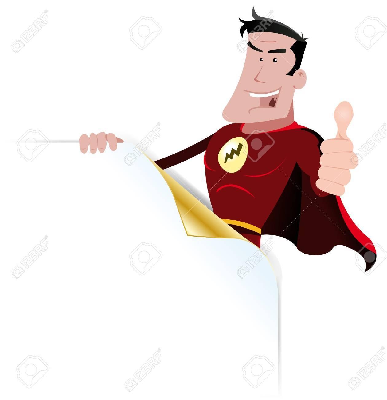 Illustration Of A Cartoon  Hero Sign Stock Vector - 11249002
