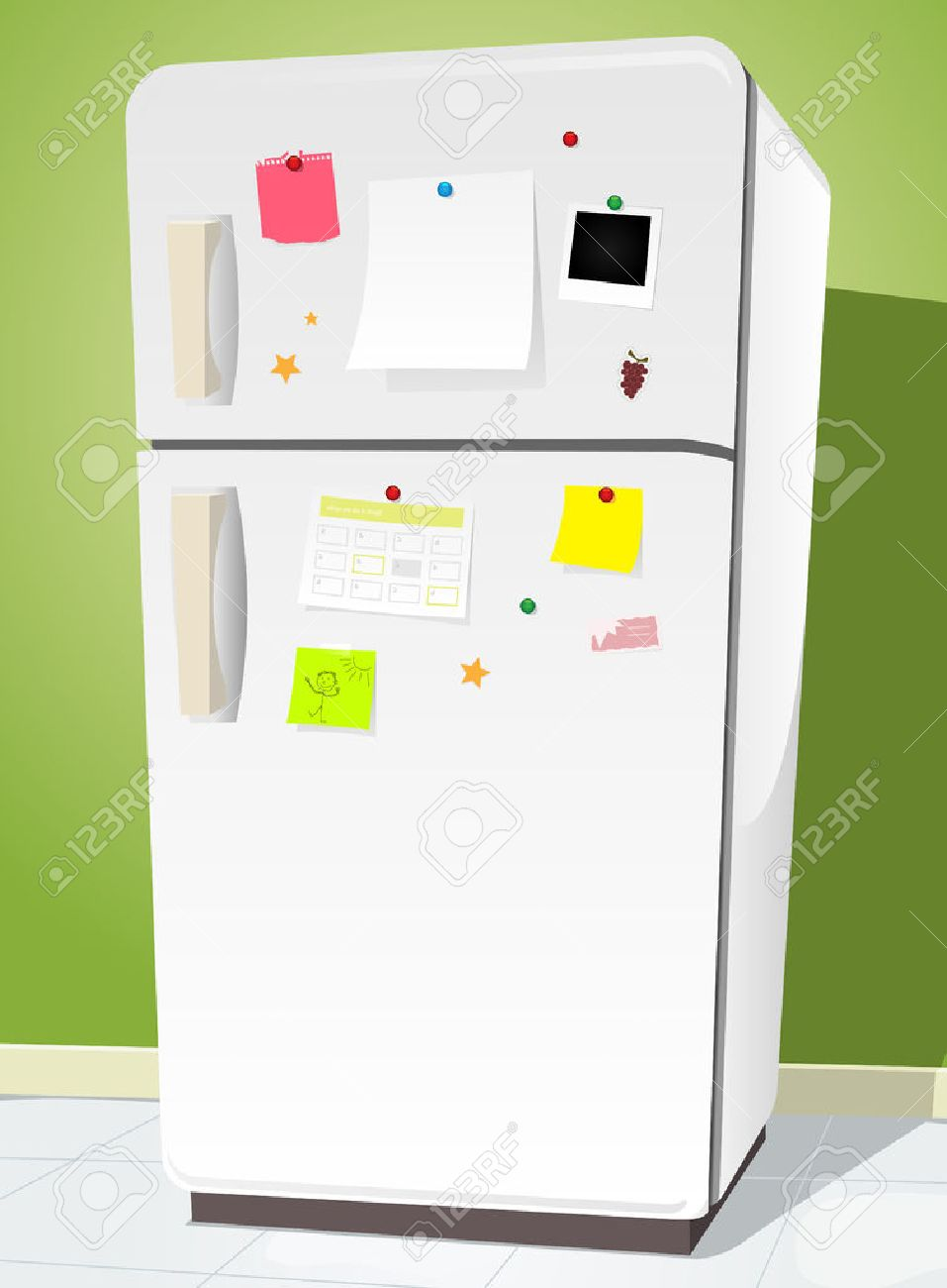 Image result for cartoon note on refrigerator