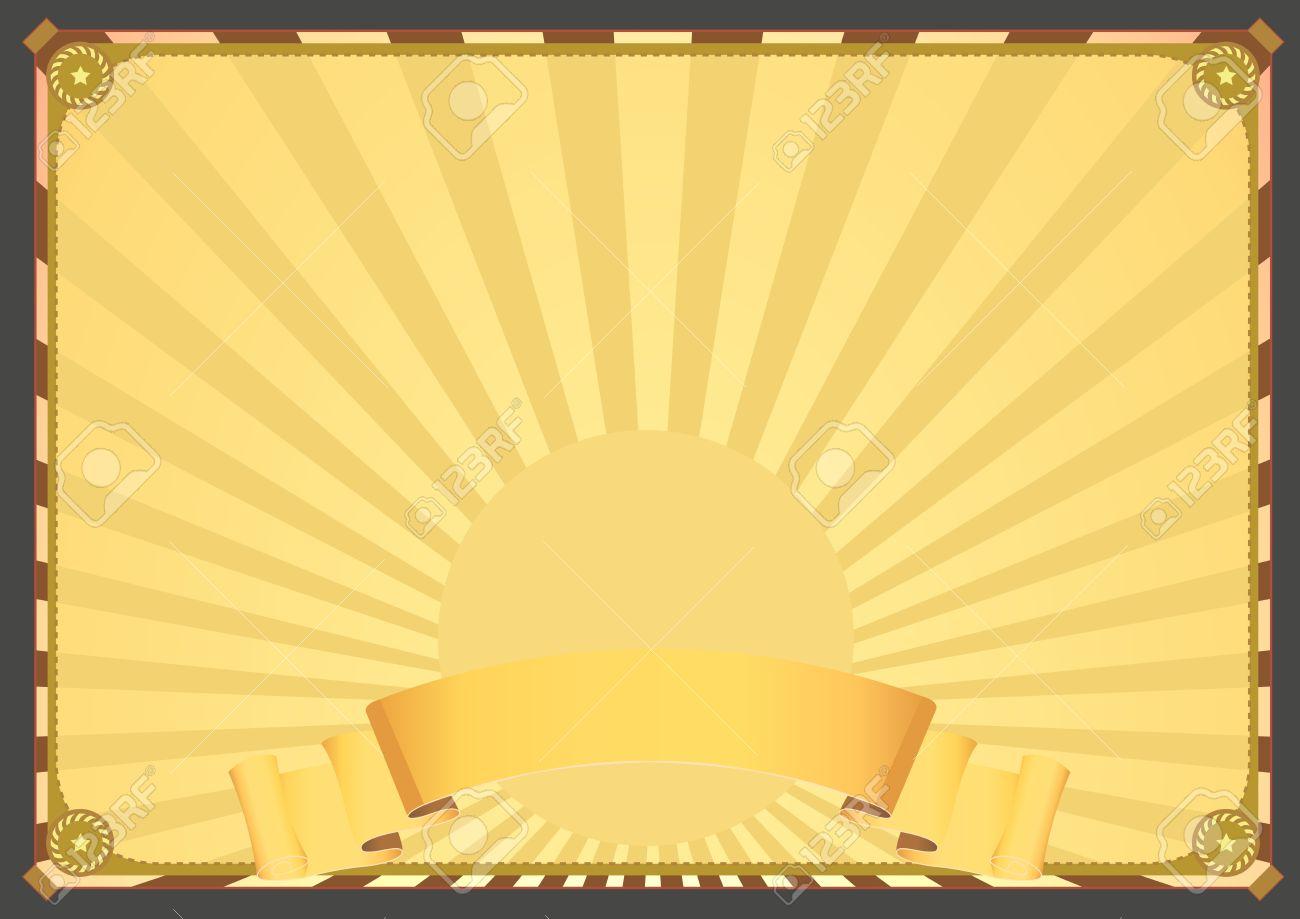 Poster backgrounds design - Illustration Of A Vintage Horizontal Design Poster Background With Ribbon Banner For Your Advertisement Or Celebration