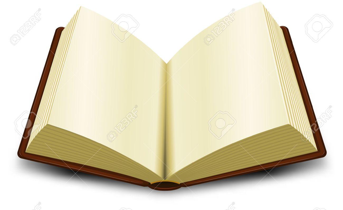 Books Cartoon Pic Cartoon Opened Brown Book