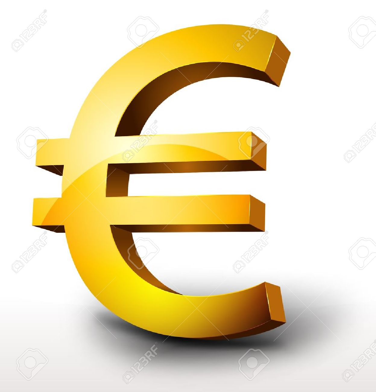 illustration of a glossy 3d golden euro currency royalty free