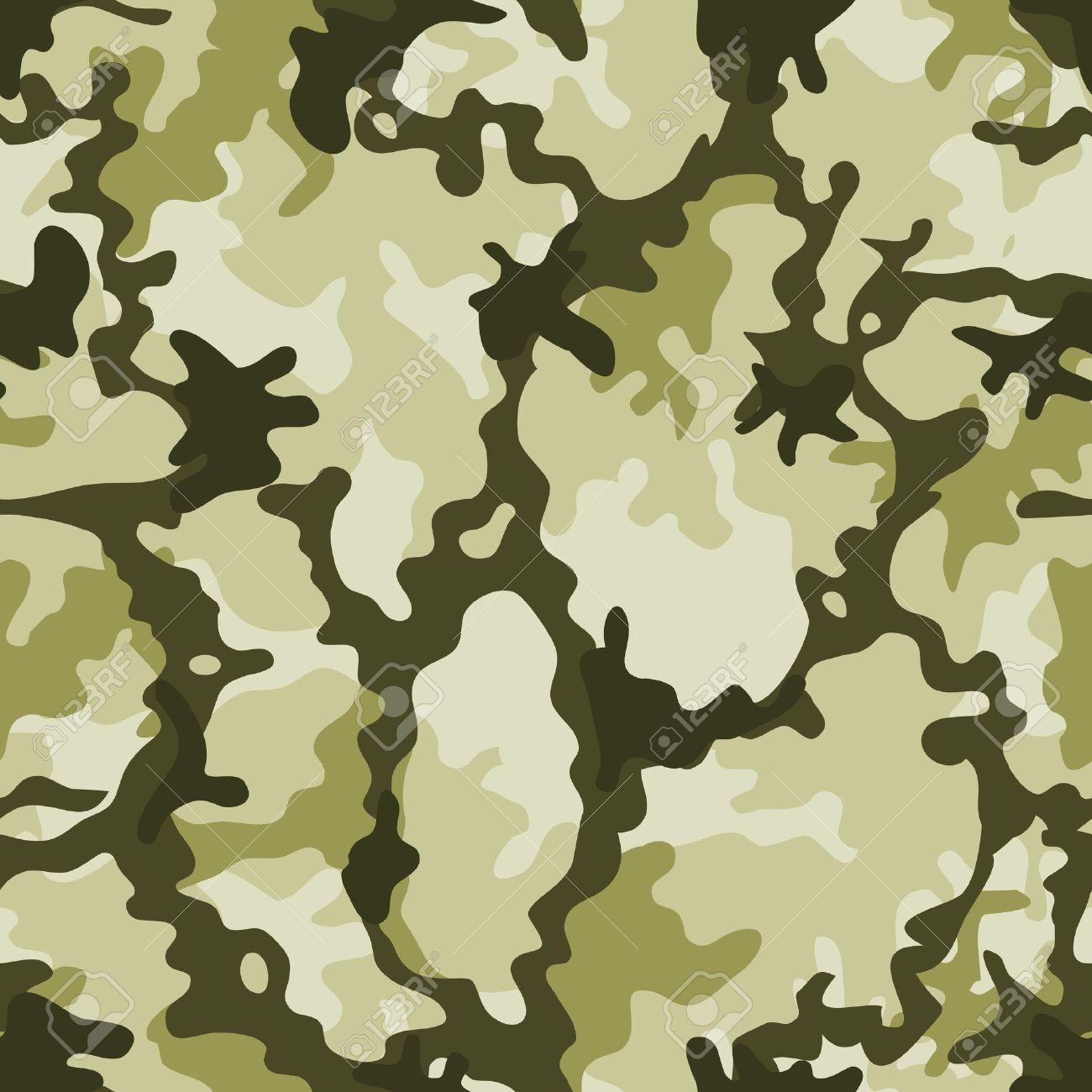 軍の迷彩柄の背景と壁紙のための緑の色合いを持つミリタリー迷彩のイラストのイラスト素材 ベクタ Image