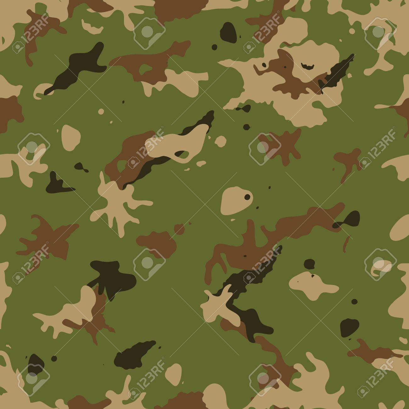 軍の迷彩柄の背景との戦いのための緑と茶色の色合いを持つミリタリー迷彩のイラストの壁紙を服します のイラスト素材 ベクタ Image