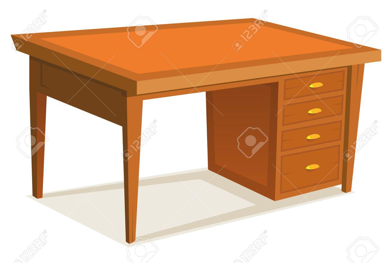 Illustration de bureau en bois meubles de bureau avec tiroir