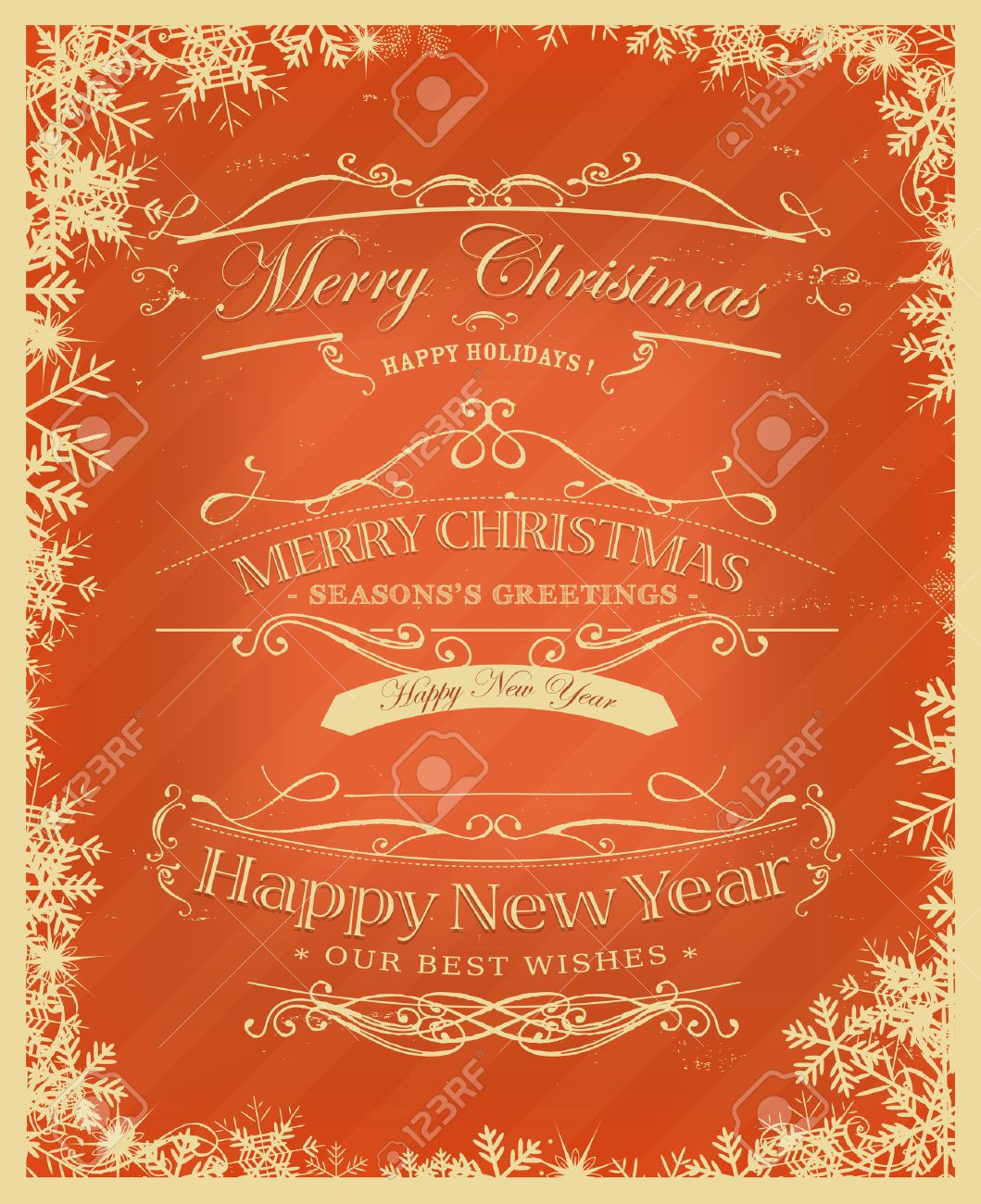 Illustration of a vintage placard poster background for christmas illustration of a vintage placard poster background for christmas seasons greetings and happy new years kristyandbryce Choice Image
