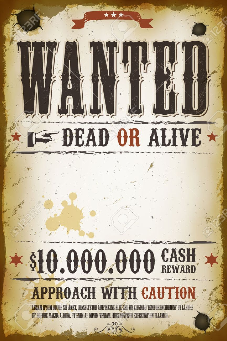 Doc501648 Printable Wanted Posters Western Wanted Poster – Free Wanted Poster Template for Kids