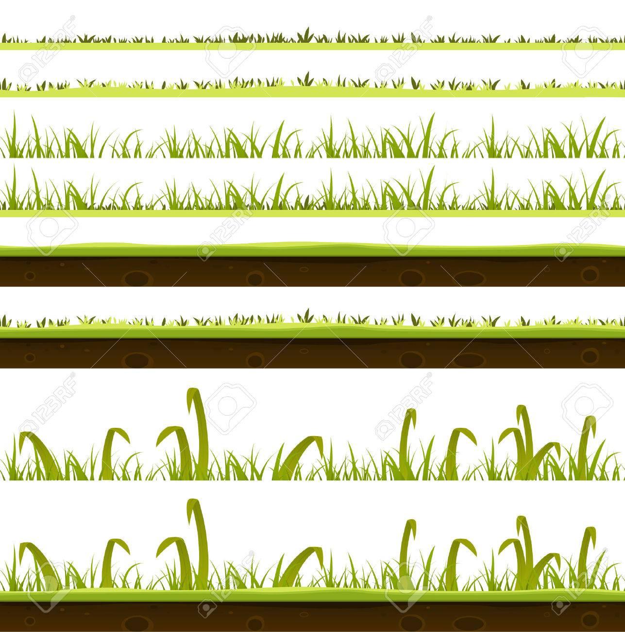 Ilustración De Un Conjunto De Varias Hojas Verdes De Las Capas De ...